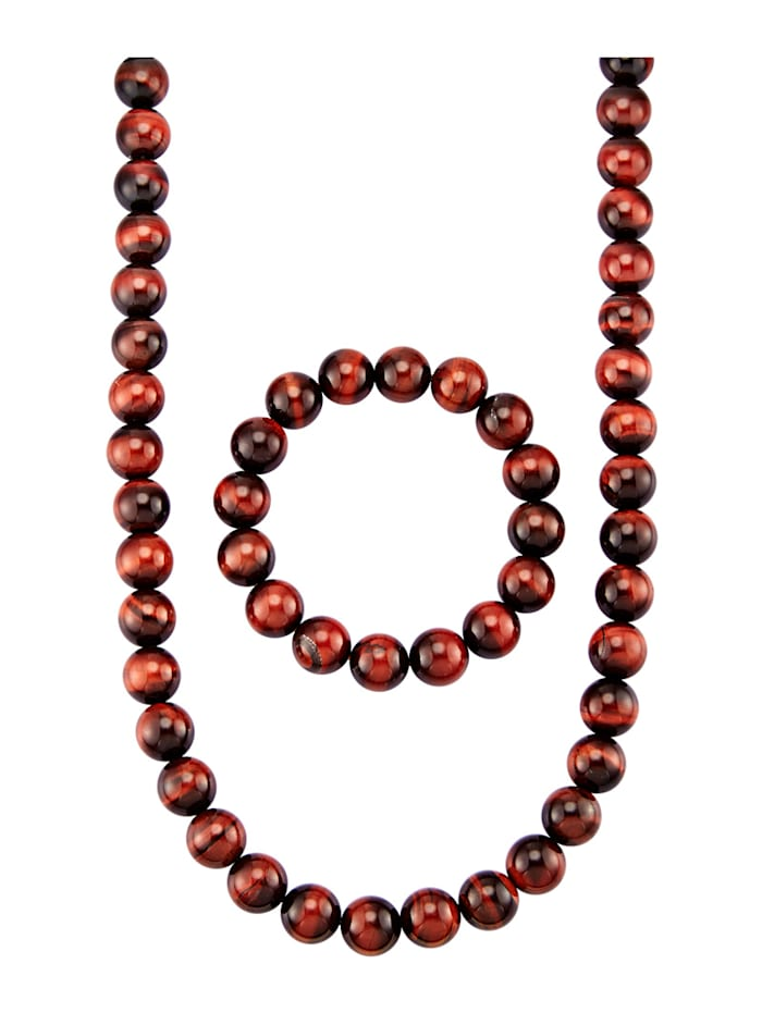2-delige sieradenset van echt zilver, Rood