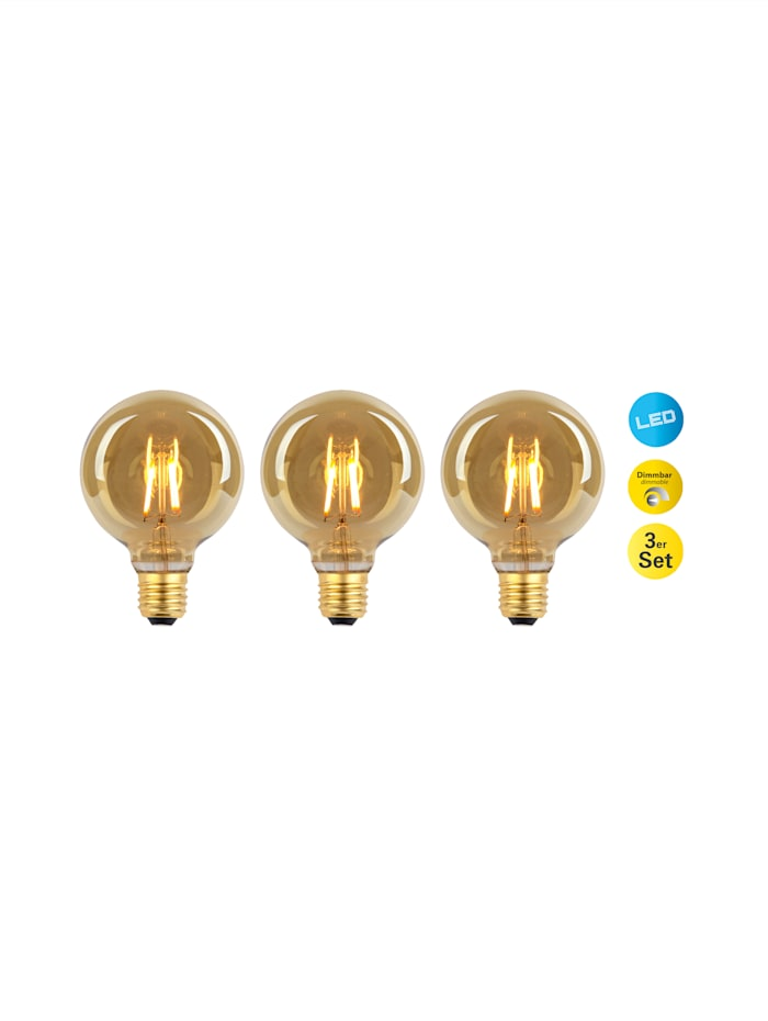 Näve 3er Set LED-Leuchmittel E27/4W, warmweiß