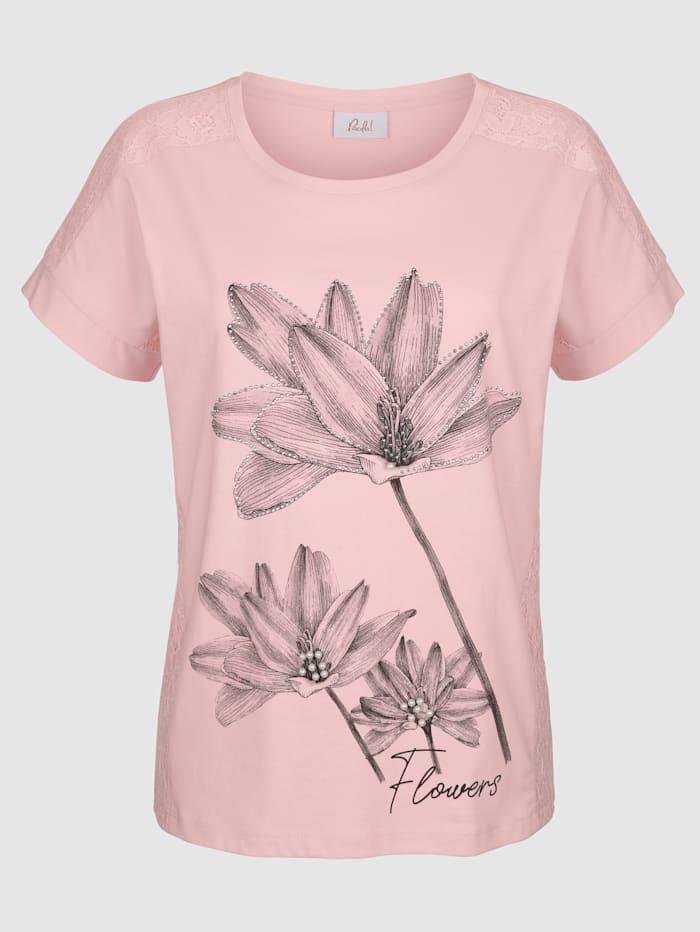 T-shirt orné de dentelle