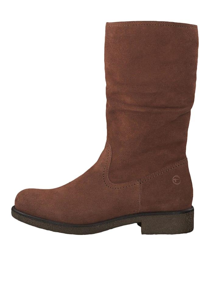 Tamaris 1-26484-23 444 Damen Stiefel Leder Rust Braun mit Innenfutter aus Wolle, Rust