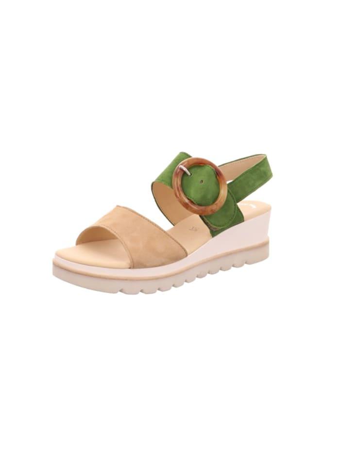 Gabor Sandalen/Sandaletten, grün