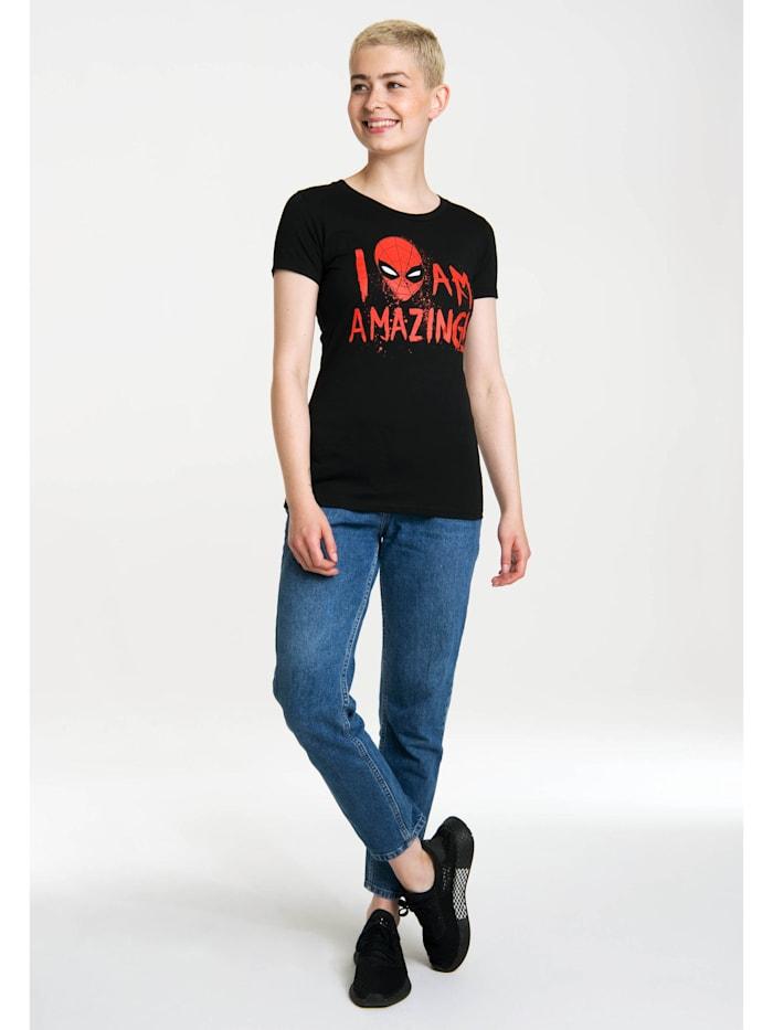 Logoshirt Print T-Shirt Marvel Comics mit lizenzierten Originaldesign, schwarz