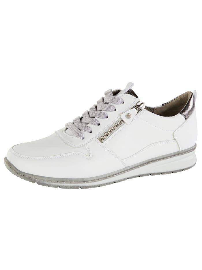 Jenny Sneakers à lacets légèrement scintillants, Blanc