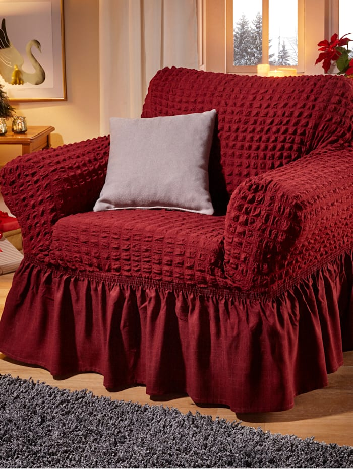Webschatz Elastisk möbelöverdragsserie, bordeaux