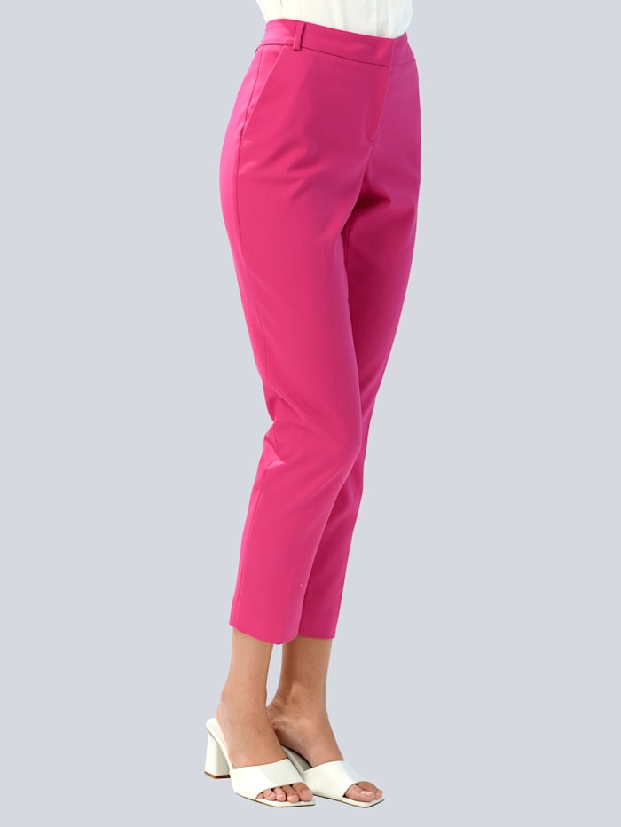 Alba Moda Pantalon de couleur estivale, Rose vif