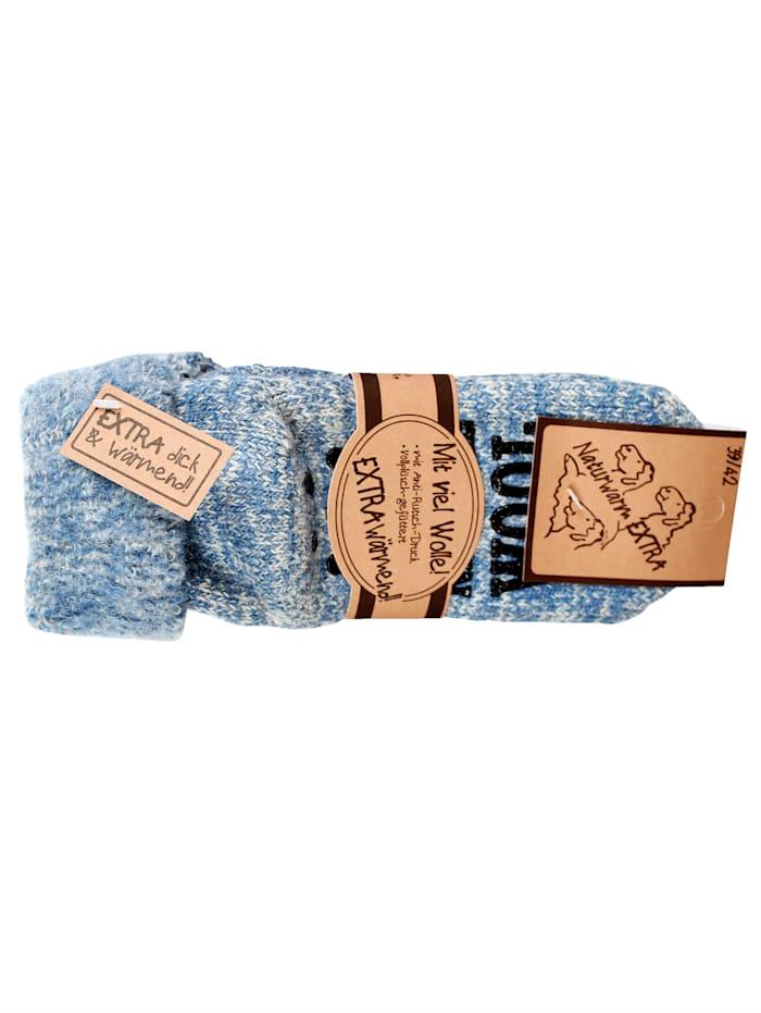 GHZ Wollen sokken voor warme voeten, Blauw