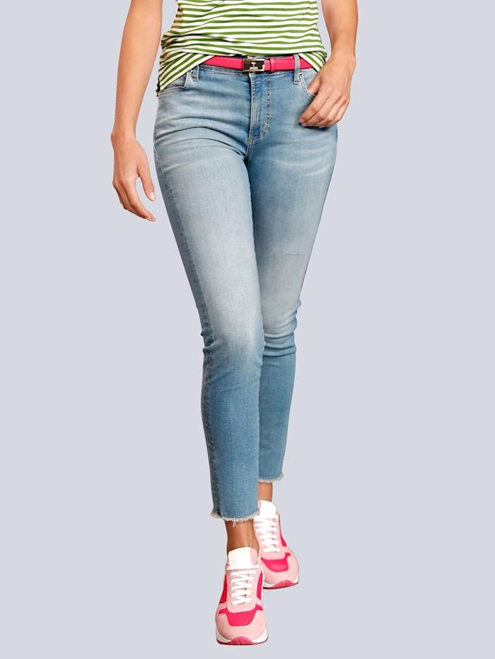 JOOP! Jeans mit Fransen am Saum, Blau
