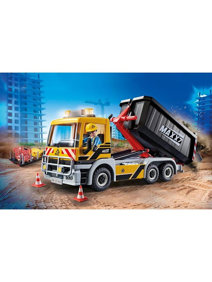 Konstruktionsspielzeug LKW mit Wechselaufbau