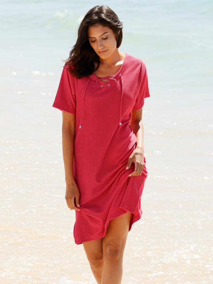 Strandkleid in gerippter Ware