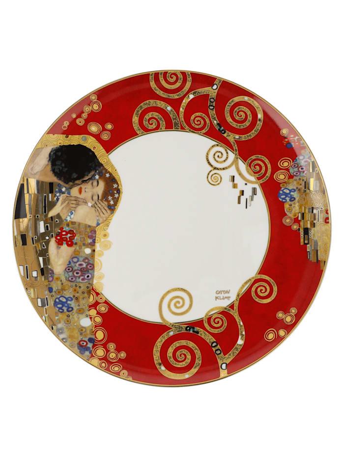 Goebel Goebel Teller Gustav Klimt - Der Lebensbaum Rot, Klimt - Kuss