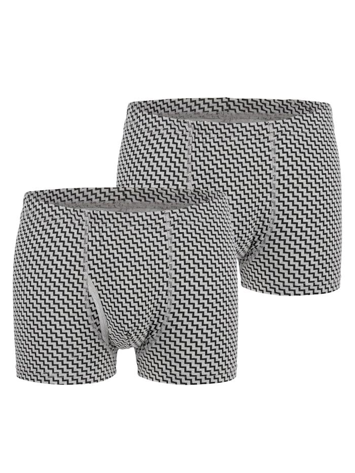 Boxershorts im trendigen Dessin 2er Pack
