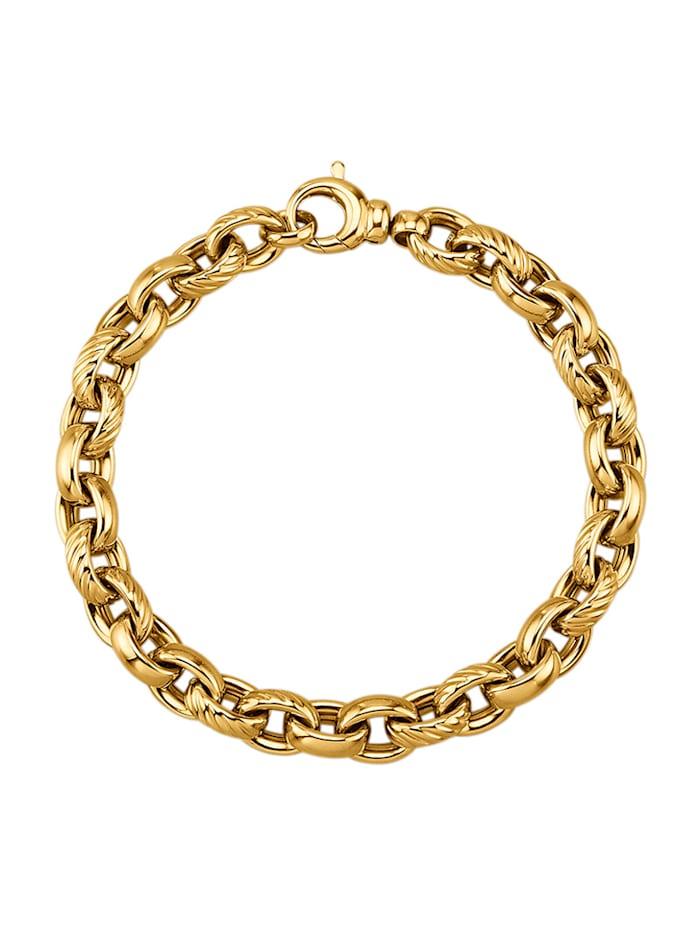 Amara Gold Ankerarmband in Gelbgold 585, Gelbgoldfarben