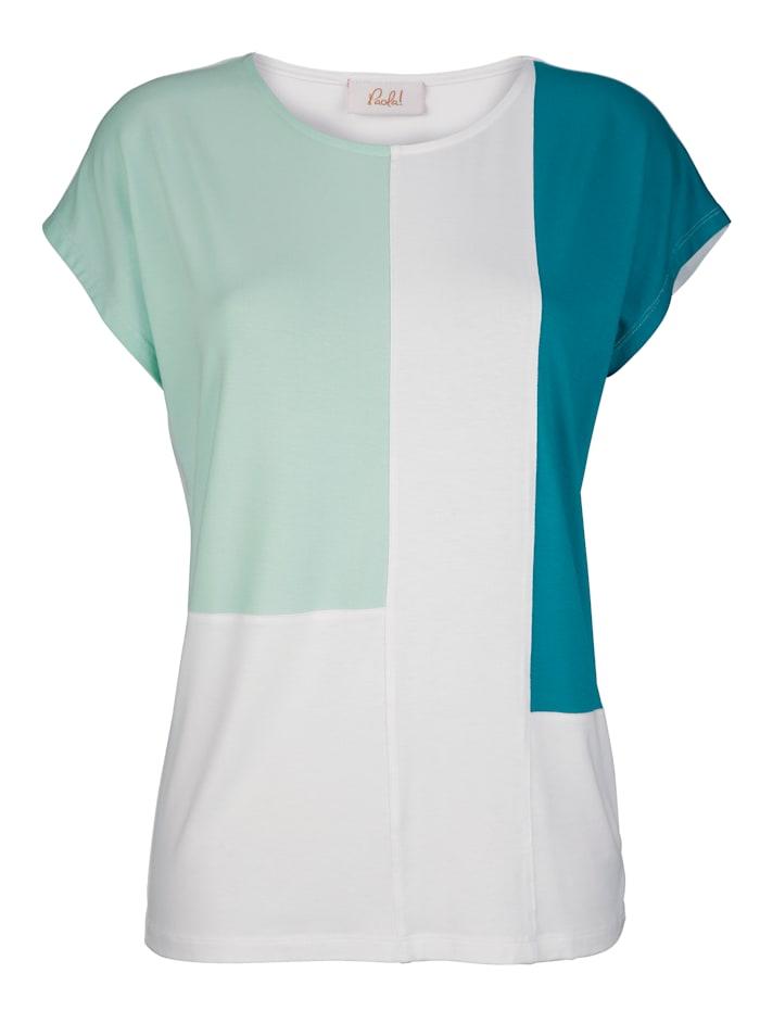 Shirt met color blocking