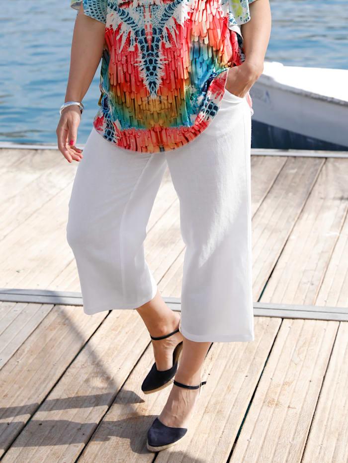 MIAMODA Culotte in angenehmen Leinen-Mix, Weiß