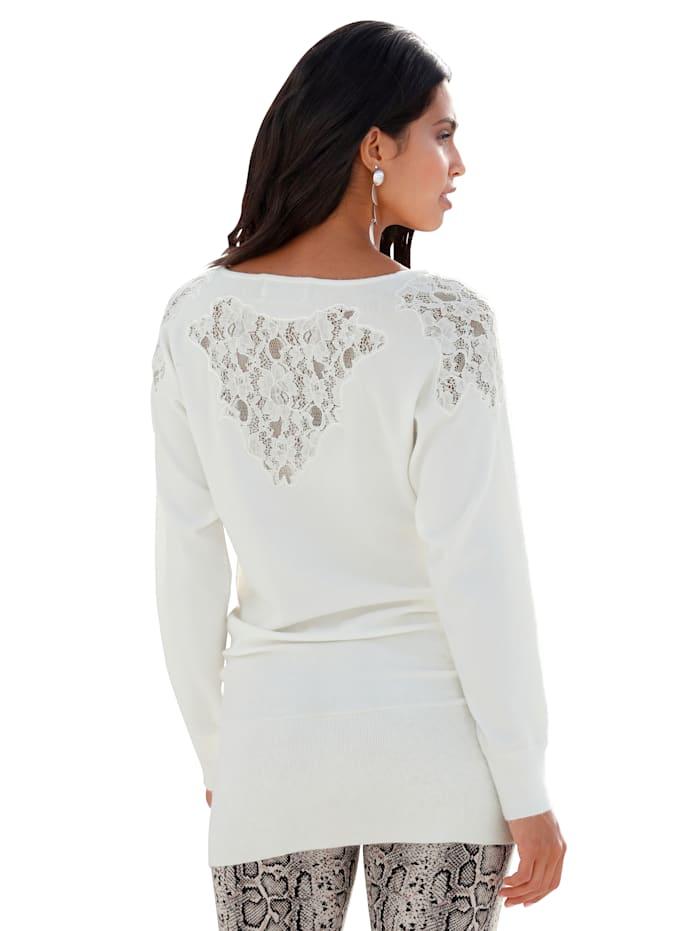 Pullover mit Spitzen-Details