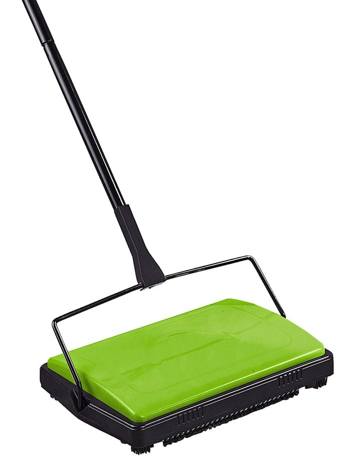 Wenko Mechanická metla také na hladké podlahy a zvířecí chlupy, Zelená