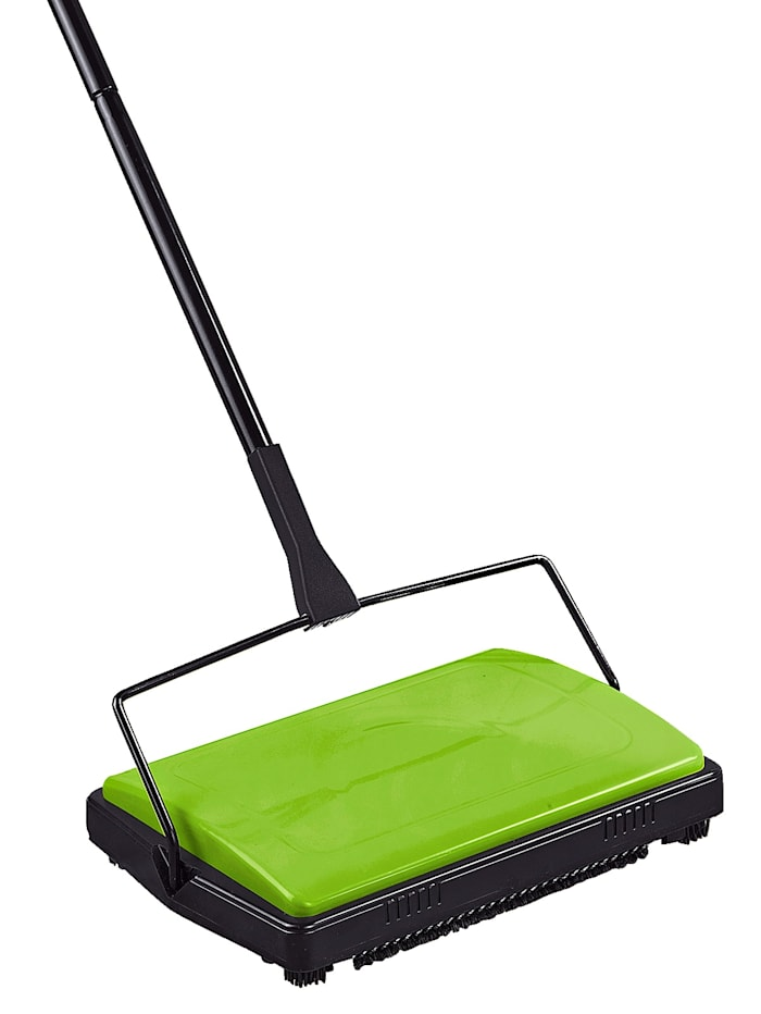 Wenko Teppichkehrer auch für glatte Böden und bei Tierhaaren, grün