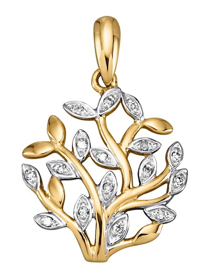 AMY VERMONT Hänge med diamanter, Guldfärgad