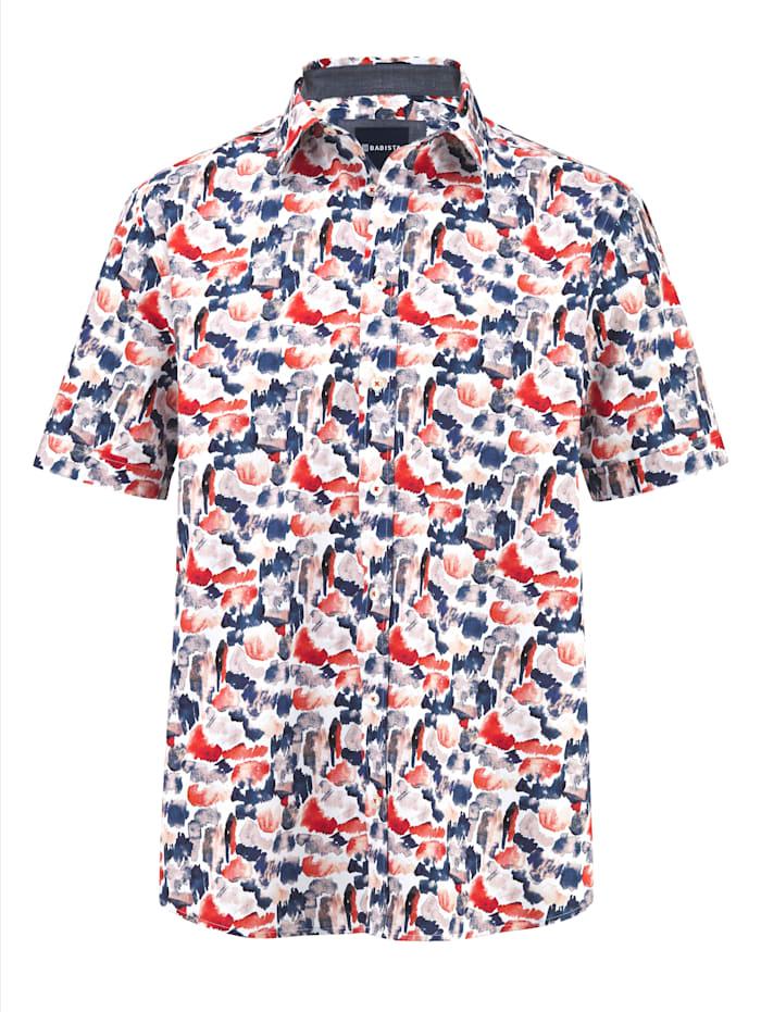 BABISTA Overhemd met trendy patroon, Koraal/Blauw