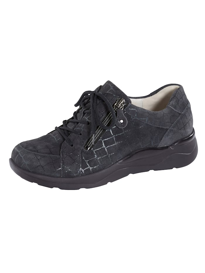 Waldläufer Lace-up shoes with a flexible cushioned sole, Dark Blue