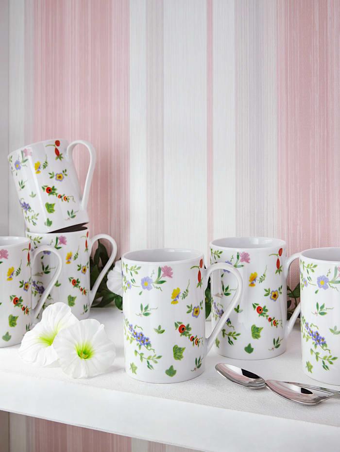 Arte Viva Set van 6 koffiemokken Millefiori, multicolor