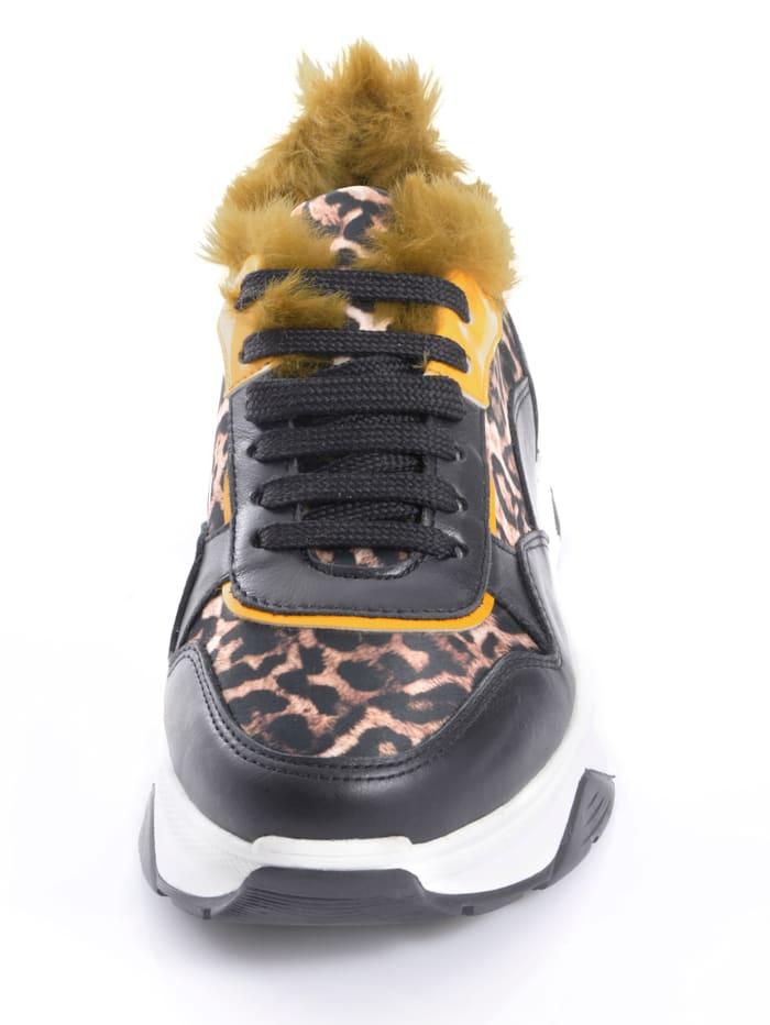Sneaker mit Leoparden-Print-Einsätzen