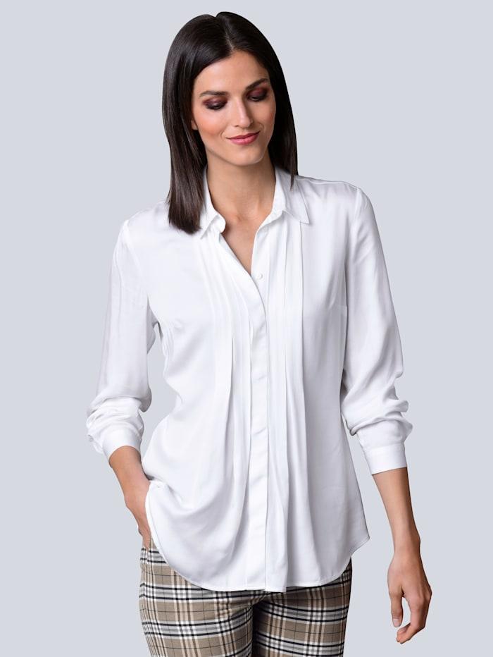 Alba Moda Bluse aus reiner Viskose-Qualität, Weiß