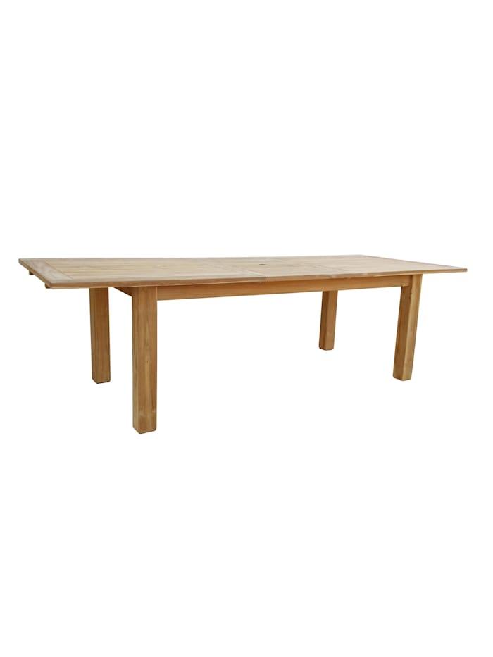 Grasekamp Teak Tisch 200/260x100 cm ausziehbar  Esstisch Gartenmöbel Gartentisch  Holztisch, Natur