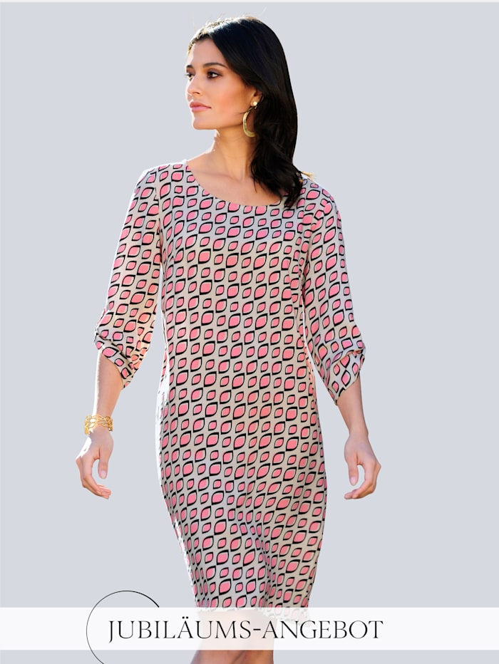 Alba Moda Kleid im exklusiven Dessin von Alba Moda, Beige/Koralle