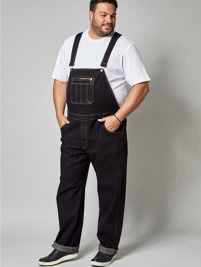 Men Plus Jeans-Latzhose Comfort Fit, Black stone