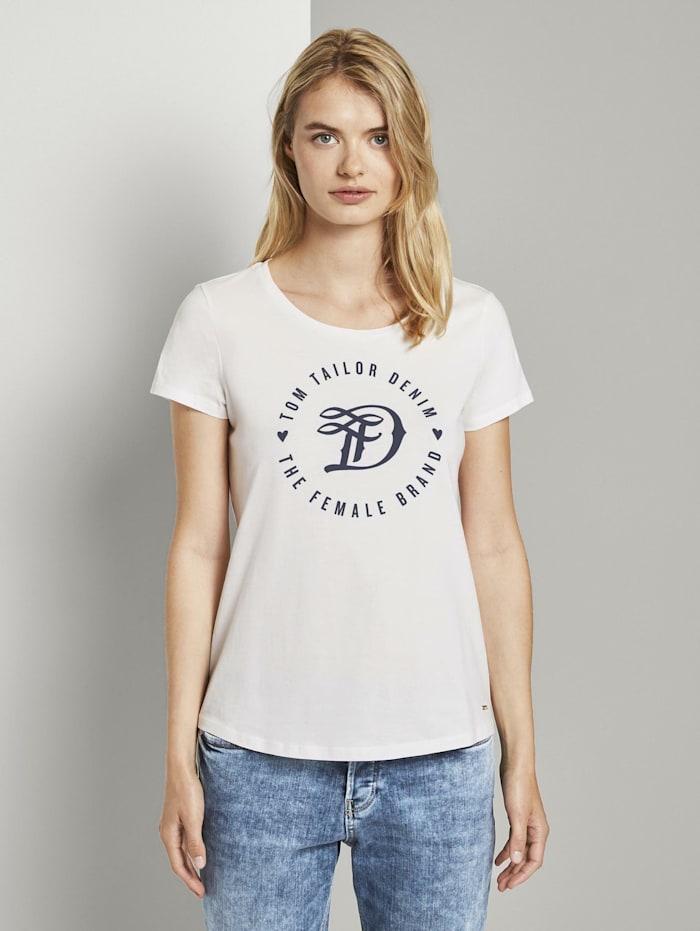 Tom Tailor Denim T-Shirt, Off White