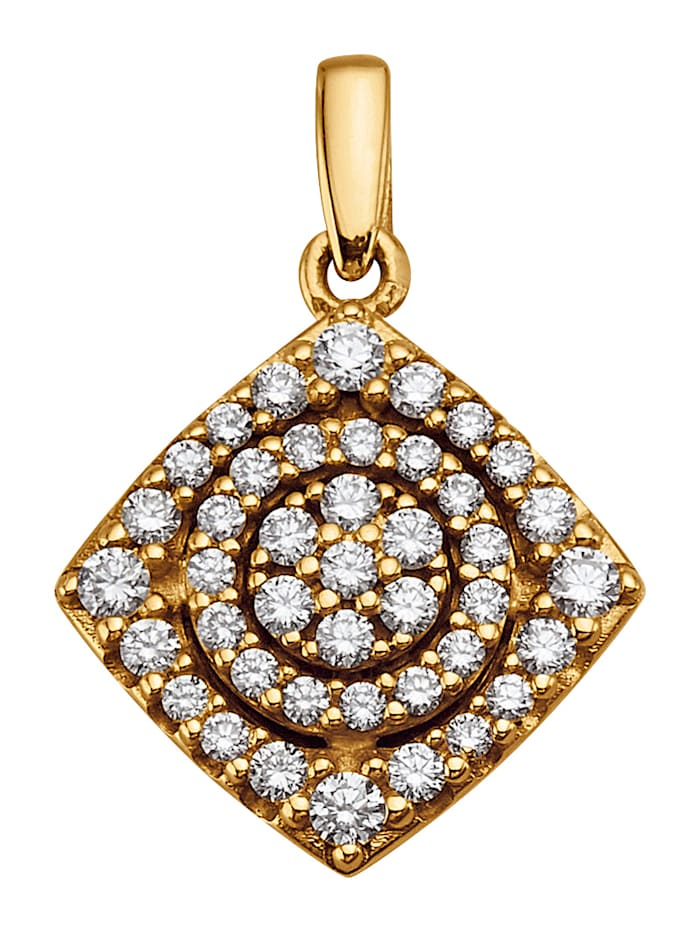 Diemer Diamant Anhänger mit 42 Brillanten, Gelbgoldfarben