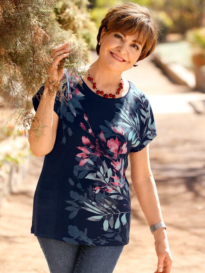 Paola Shirt met exclusieve print, Marine/Rood