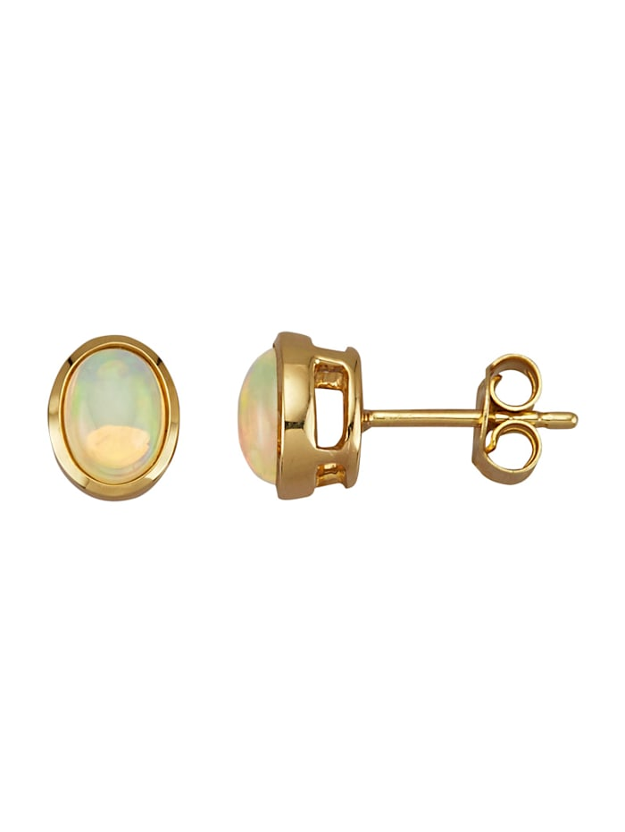 KLiNGEL Ohrringe mit äthiopischen Opalen, Weiß