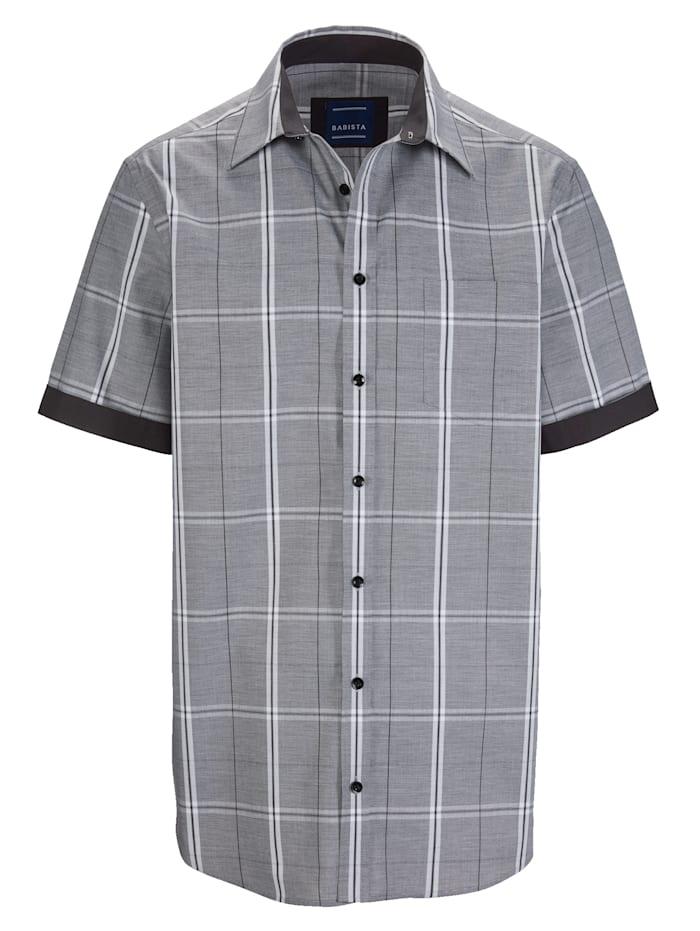 BABISTA Hemd mit grafischem Karomuster, Grau