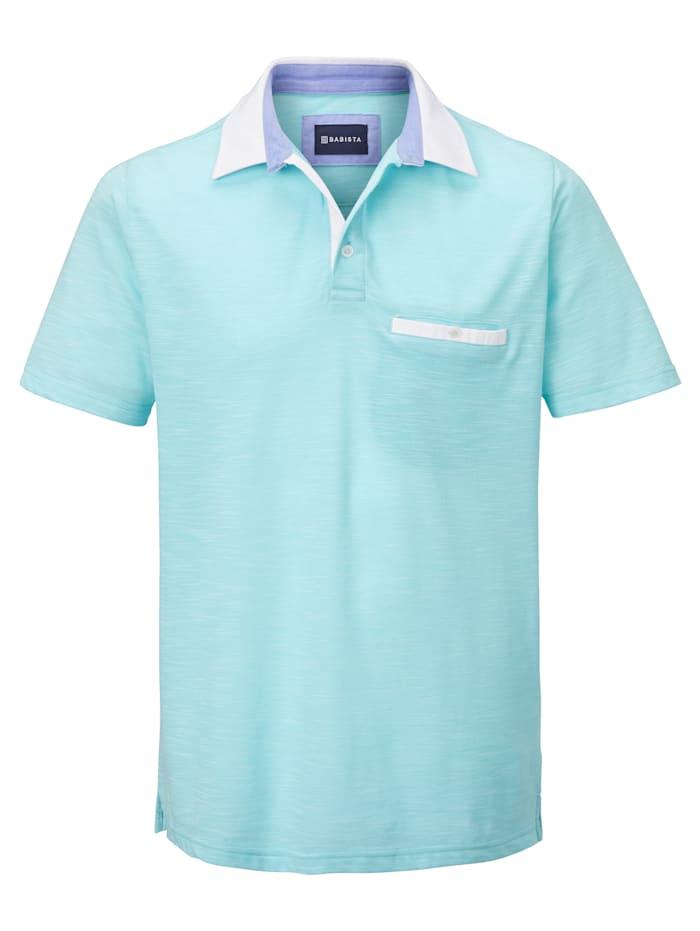 BABISTA Poloshirt in zweifarbiger Optik, Mintgrün