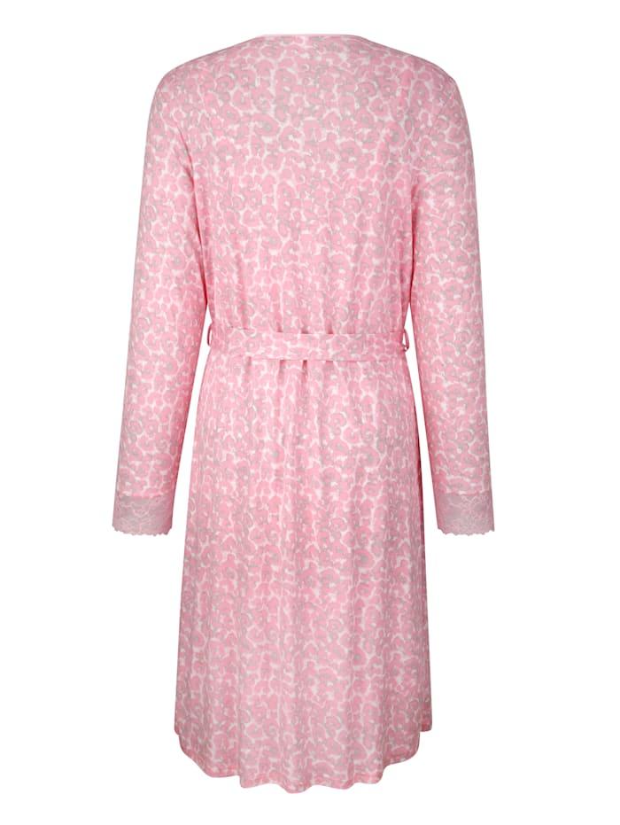 Ensemble robe de chambre + nuisette à dentelle élégante