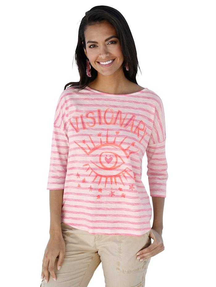 Lieblingsstück Shirt met modieuze print, Offwhite/Pink
