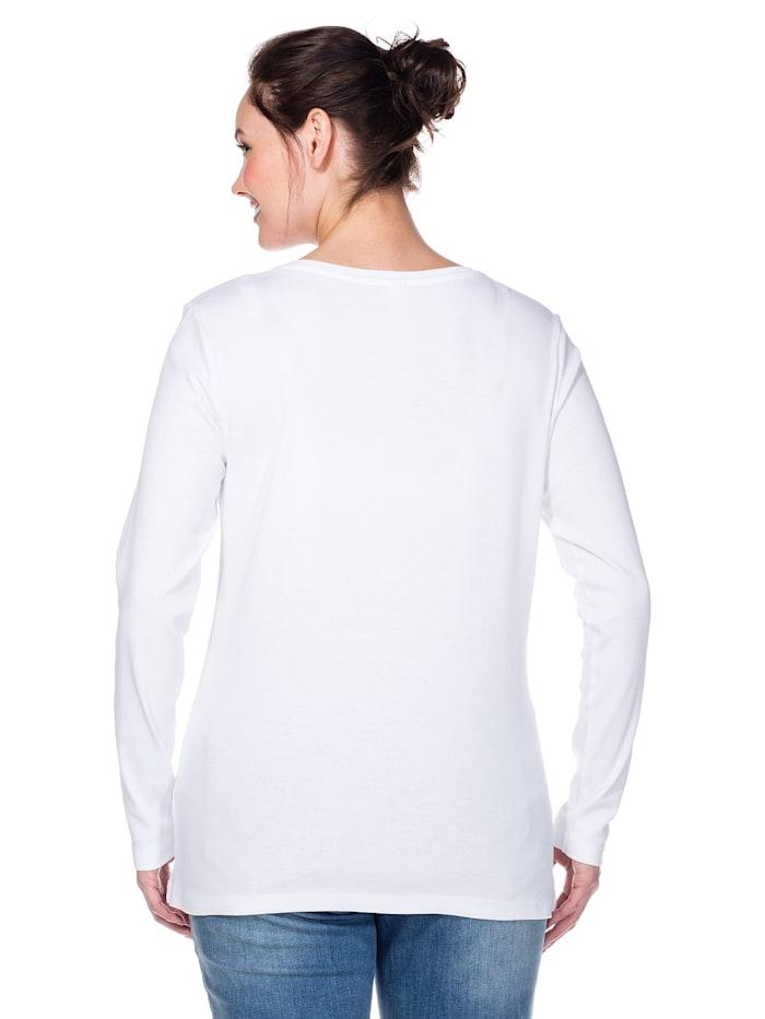 Shirt mit Serafinokragen