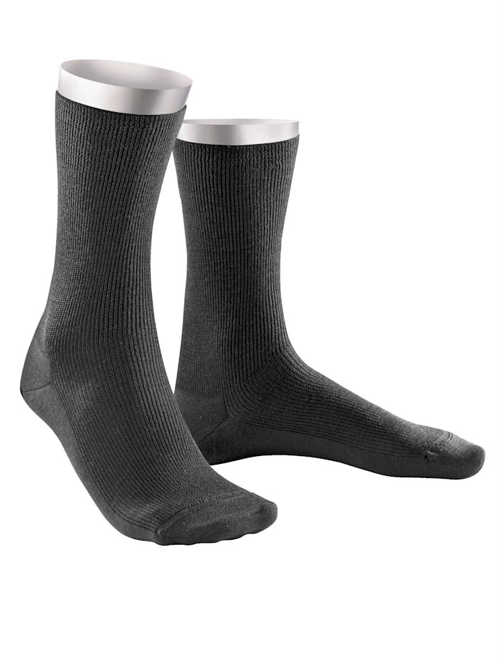 Weissbach Socken »Elite« ohne einschneidenden Gummibund, Anthrazit