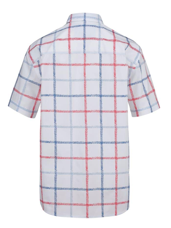Skjorte med maritimt rutemønster