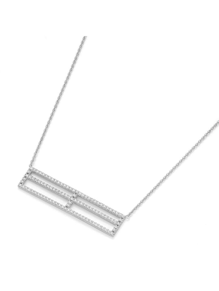 Giorgio Martello Collier Mittelteil rechteckig, Silber