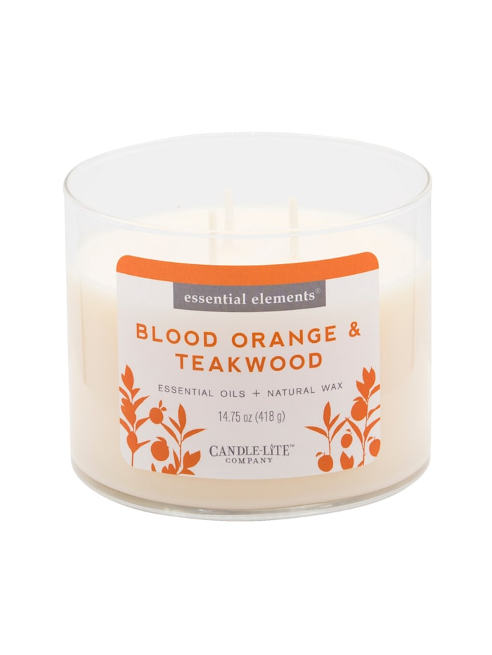 Candle-Lite Duftkerze Blutorange, weiß