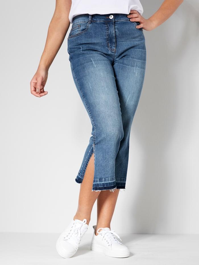 Angel of Style Jeans met zijsplit, Blue stone