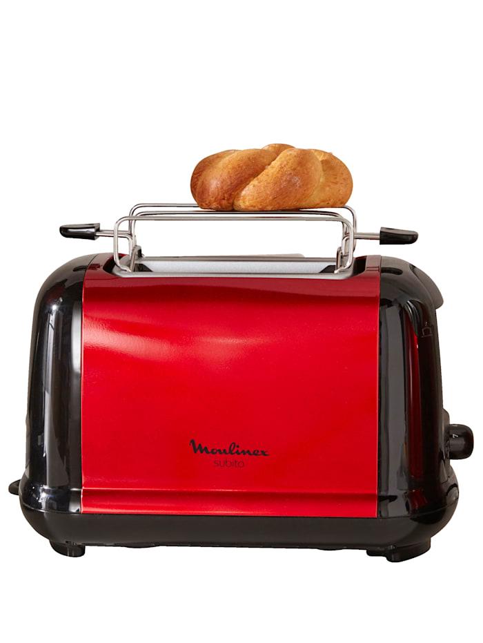 Moulinex Broodrooster Subito LT261D, rood/zwart