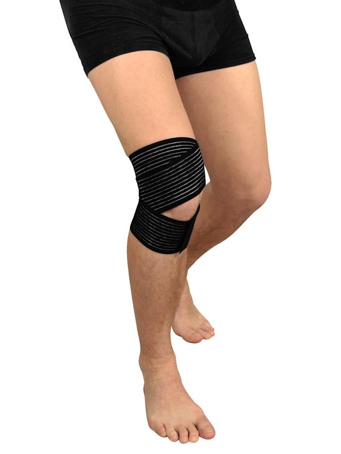 Hydas Bandáž na koleno s protišmykovými nopkami, čierna