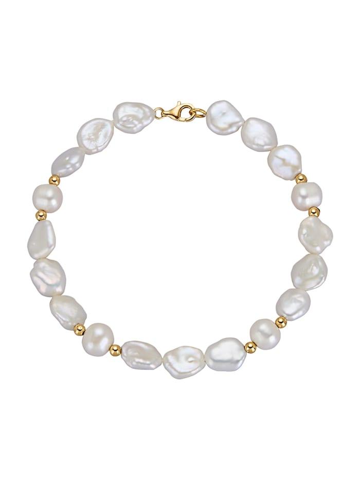 Amara Highlights Bracelet avec perles de culture d'eau douce et perles de Keshi, Blanc