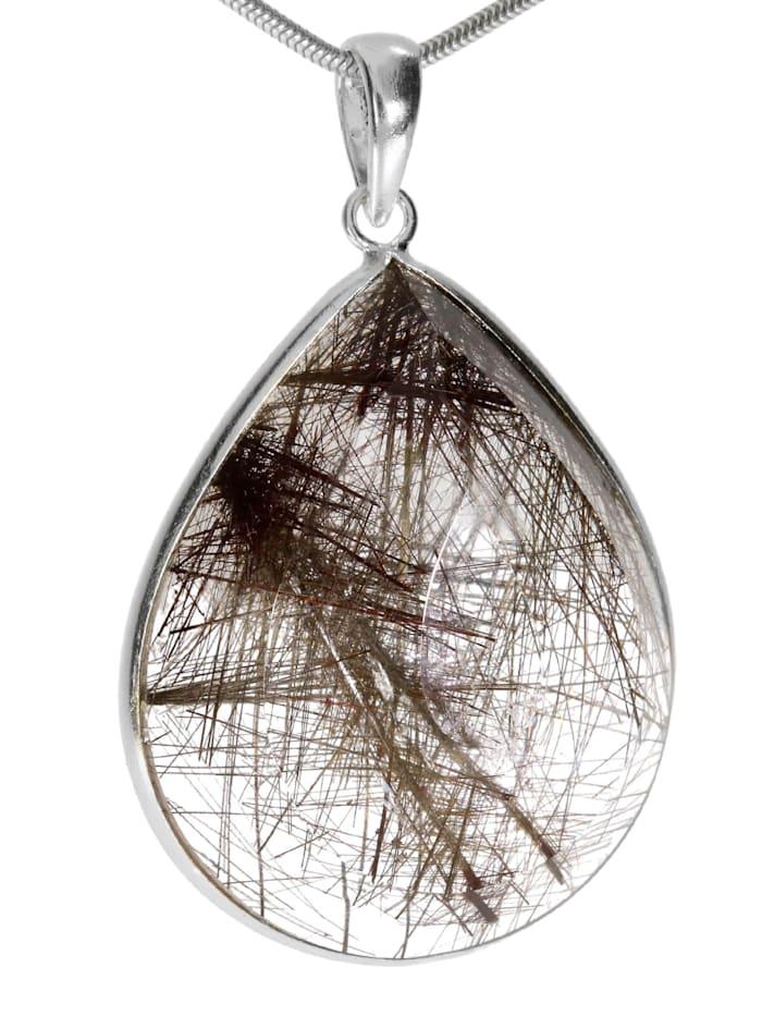 1001 Diamonds Damen Schmuck Edelstein Rultilquarz Anhänger 925 Silber bunt, bunt
