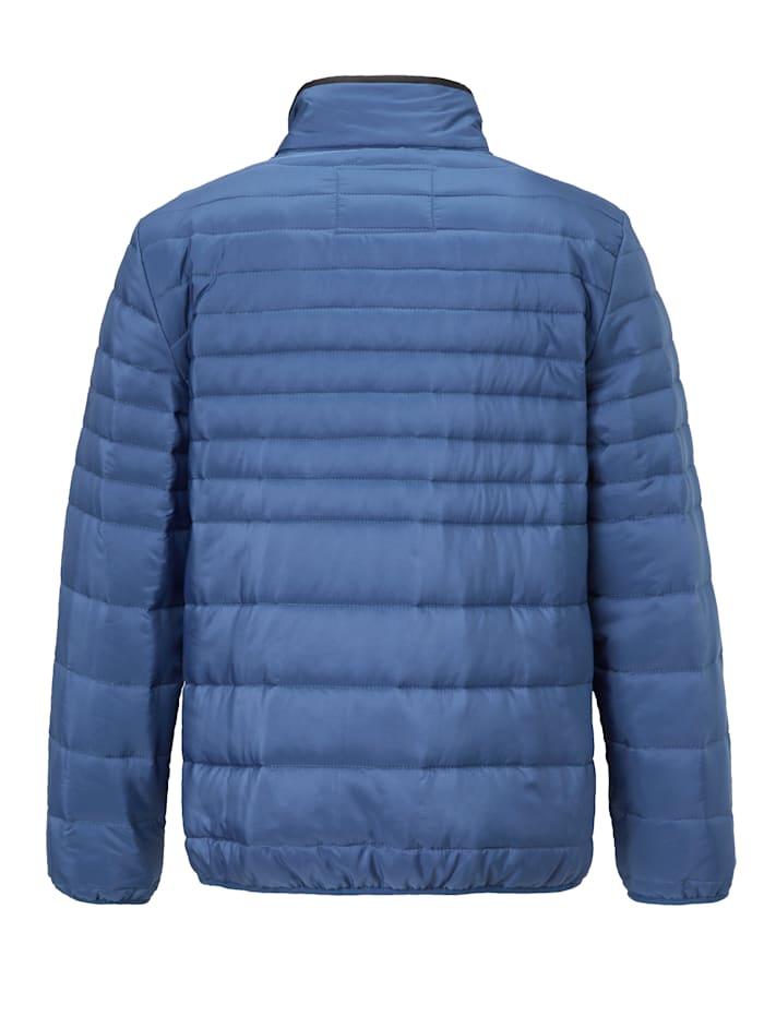 Doorgestikte jas van zomers materiaal