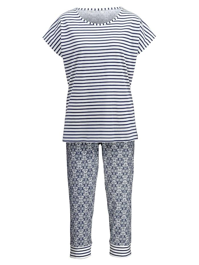 Schlafanzug mit dekorativem Kordelzug